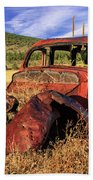 Old Car At Susanville Ranch Beach Towel