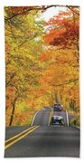 Old Car Tour To Copper Harbor Beach Towel