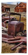 Old Cars Bodie Beach Towel
