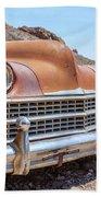 Old Cars In The Desert, Eldorado Canyon, Nevada Beach Towel by Edward Fielding