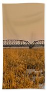 Old Cedar Road Bridge Beach Towel