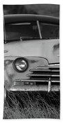 Old Chevy By The Levee Beach Towel