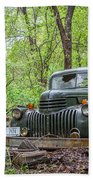 Old Chevy Oil Truck 1  Beach Towel