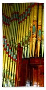 Old Church Organ Beach Towel