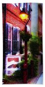 Old City Streets - Elfreth's Alley Beach Towel