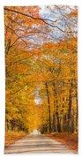 Old Coach Road Autumn Beach Towel