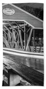 Old Covered Bridge  Beach Towel