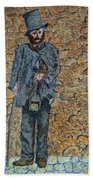 Old-crafts-the-lamplighter-italy-1800 Beach Towel