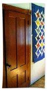 Old Door - New Quilt Beach Towel