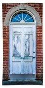 Old Door And Windows Beach Towel