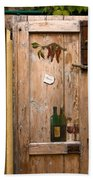 Old Door And Wine Beach Towel