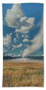 Old Faithful After Eruption Beach Towel