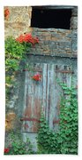 Old Farm Door Beach Towel