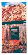 Old Farm House Beach Towel