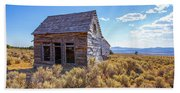 Old Farm House Widtsoe Utah Ghost Town Beach Sheet