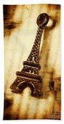 Old Fashion Eiffel Tower Souvenir Beach Towel