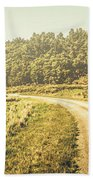 Old-fashioned Country Lane Beach Towel