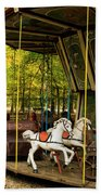 Old-fashioned Merry-go-round Beach Towel