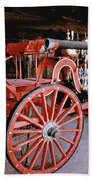 Old Fire Truck Beach Towel