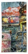 Old Fishing Gear Beach Towel