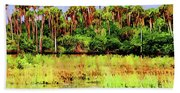 Old Florida Loop Palms Beach Towel