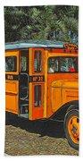 Old Ford School Bus No. 32 Beach Towel