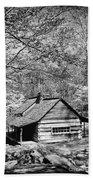 Old Frontier Cabin  Beach Towel