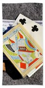 Old Gambling Articles Beach Towel
