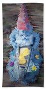 Old Garden Gnome Beach Towel