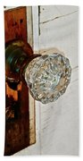 Old Glass Doorknob Beach Towel