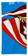 Old Glory Flying Beach Towel