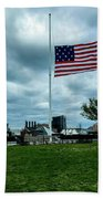 Old Glory Over Baltimore Beach Towel