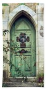 Old Gothic Door Beach Sheet