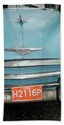 Old Havana Cab Beach Towel
