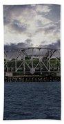 Old Highway 41 Swing Bridge Over The Wando River In Charleston Sc Beach Towel