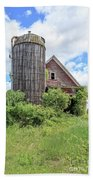 Old Historic Barn In Vermont Beach Towel