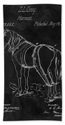 Old Horse Harness Patent  Beach Towel