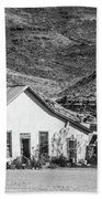 Old House And Foothills Beach Towel