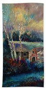 Old Houses In Hour Beach Towel
