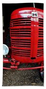 Old International Harvester Tractor Beach Towel