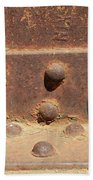 Old Iron Hinges Beach Towel