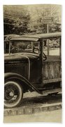 Old Jalopy In Wiscasset Beach Towel