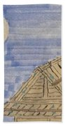 Old Japan At Nightfall Beach Towel