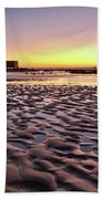Old Lifesavers Building Covered By Warm Sunset Light Beach Towel