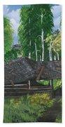 Old Log Cabin And   Memories Beach Towel