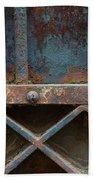 Old Metal Gate Detail Beach Towel
