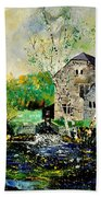 Old Mill In April Beach Towel