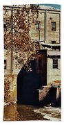 Old Mill In Autumn Beach Towel