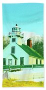 Old Mission Point Lighthouse Beach Towel