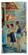 Old Montreal Street Scene Beach Towel
